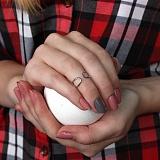Серебряное кольцо на фалангу Разомкнутая петля