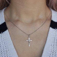 Серебряный крестик Всевышний с родиевым покрытием