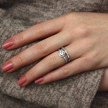 Серебряное кольцо Сесиль с фианитами