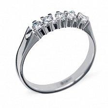 Кольцо из белого золота с бриллиантами Элизабет