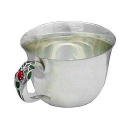 Серебряная чашка Божья коровка с эмалью 000043507