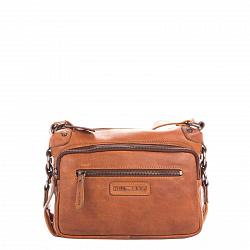 Кожаная мужская сумка HILL BURRY 4067 коричневого цвета на молнии с дополнительными карманами