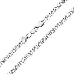 Серебряная цепочка в плетении бисмарк 000122854