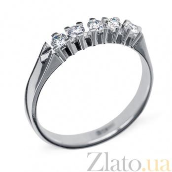 Кольцо из белого золота с бриллиантами Элизабет R 0652/бел