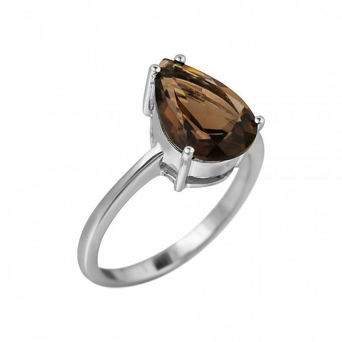 Серебряное кольцо Фанни с раухтопазом 000081579