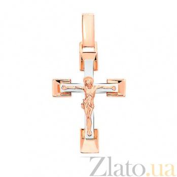 Золотой крестик Живой Бог SUF--501524кбм