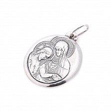 Серебряная ладанка Защита сверху с ликами святых