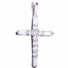 Серебряный крест Мария с фианитами