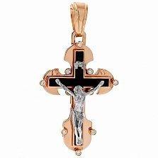 Золотой крест с агатом и цирконием Высшие силы