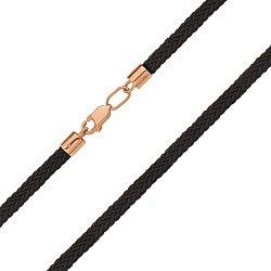 Темно-коричневый шнурок из текстиля и красного золота 000145532
