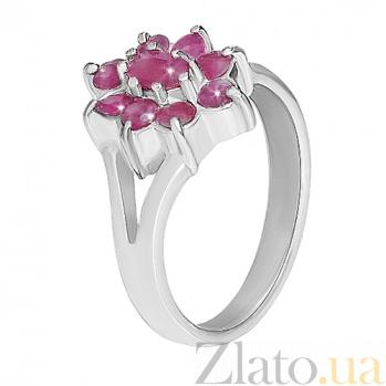 Кольцо из серебра с рубинами Вселенная 10000119