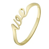 Золотое кольцо в желтом цвете We