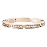 Обручальное кольцо из розового золота с бриллиантами Звездопад желаний