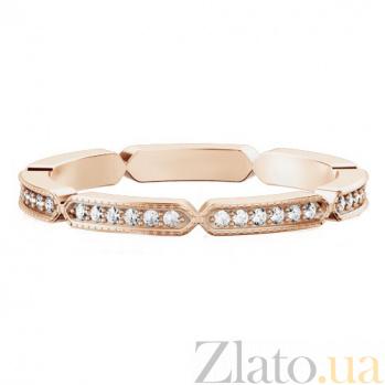 Обручальное кольцо из розового золота с бриллиантами Звездопад желаний 347