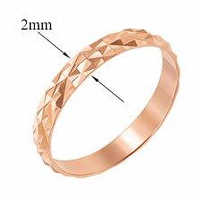 Обручальное кольцо из красного золота Энергия любви с алмазной гранью