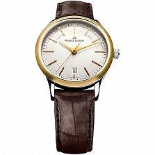 Часы Maurice Lacroix на коричневом кожаном ремешке коллекции Les Classiques Gents date
