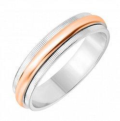 Золотое обручальное кольцо в комбинированном цвете 000131012
