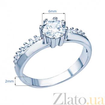 Серебряное кольцо с фианитами Вирджиния 000026989