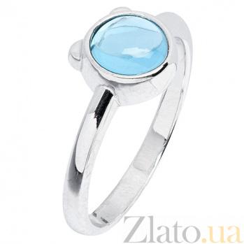 Золотое кольцо Мишутка с голубым топазом 000023510