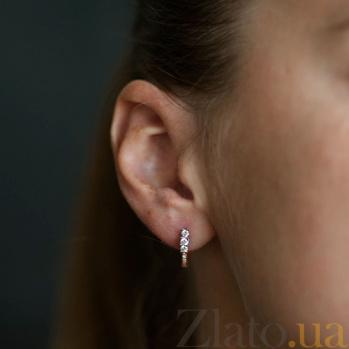 Золотые серьги  с бриллиантами Богема EDM-С7429