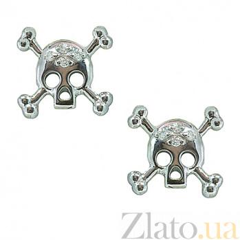 Серьги из белого золота с бриллиантами Метка ZMX--ED-00263w_K