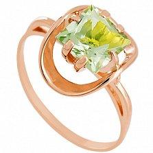 Золотое кольцо Заир с аметистом