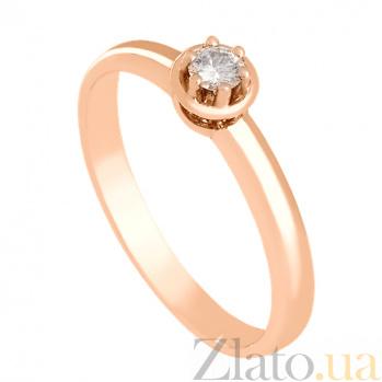 Золотое кольцо с бриллиантом Идеал VLN--122-657