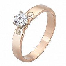 Золотое кольцо с цирконием Элоиза