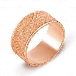 Обручальное кольцо из красного золота с орнаментом 000135499