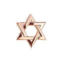 Золотая подвеска Звезда Давида со скрытым бунтиком 000080025