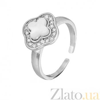 Фаланговое серебряное кольцо с перламутром Луи Виттон 000028153