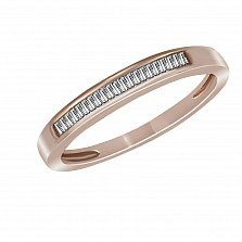 Обручальное кольцо из красного золота Милада с бриллиантами