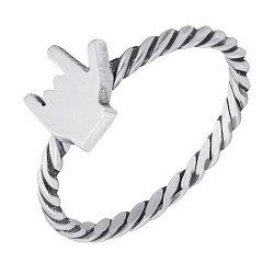 Cеребряное кольцо Heavy metal с чернением 000103155
