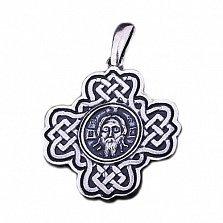 Серебряный крест с чернением Святой дар