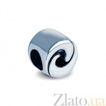 Серебряная бусина Узор
