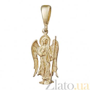 Серебряный подвес Ангел-хранитель с позолотой 000025234