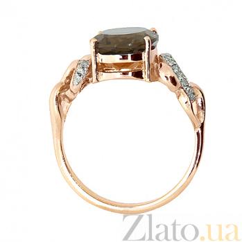Золотое кольцо с раухтопазом и бриллиантами Мара ZMX--RRt-6280_K