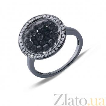 Кольцо серебряное оксидированное Темная ночь AQA-MVSR-0225