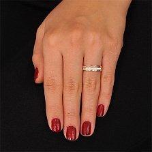 Золотое обручальное кольцо Крылья любви