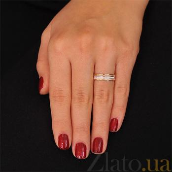 Золотое обручальное кольцо Крылья любви 000001679