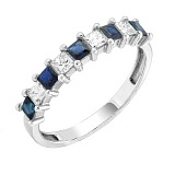 Золотое кольцо Иоланта с сапфирами и бриллиантами