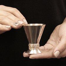 Серебряная рюмка Модерн с узорной основой, 45мл