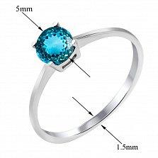Серебряное кольцо Юность с лондон топазом в четырех крапанах