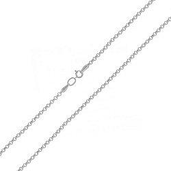 Серебряная цепочка плетения ролло с родием, 1мм 000100257