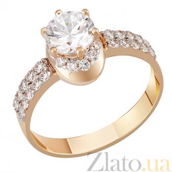 Золотое кольцо с фианитами Аделия 000023452