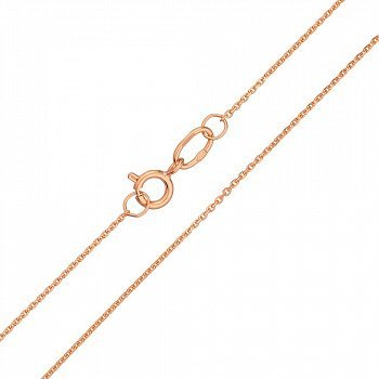Золотий ланцюжок в червоному кольорі якірного плетіння 000100149
