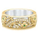 Обручальное кольцо из желтого золота Восторг: Ласковый рассвет