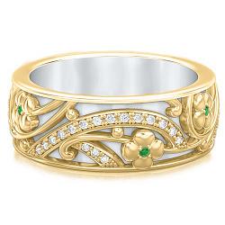Обручальное кольцо из желтого золота Восторг: Ласковый рассвет 000010909