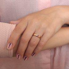 Кольцо в красном золоте Татьяна с рубином