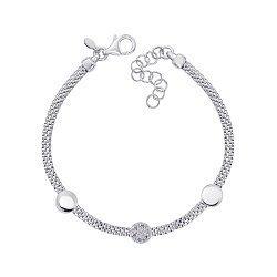 Серебряный браслет с цирконием 000145360